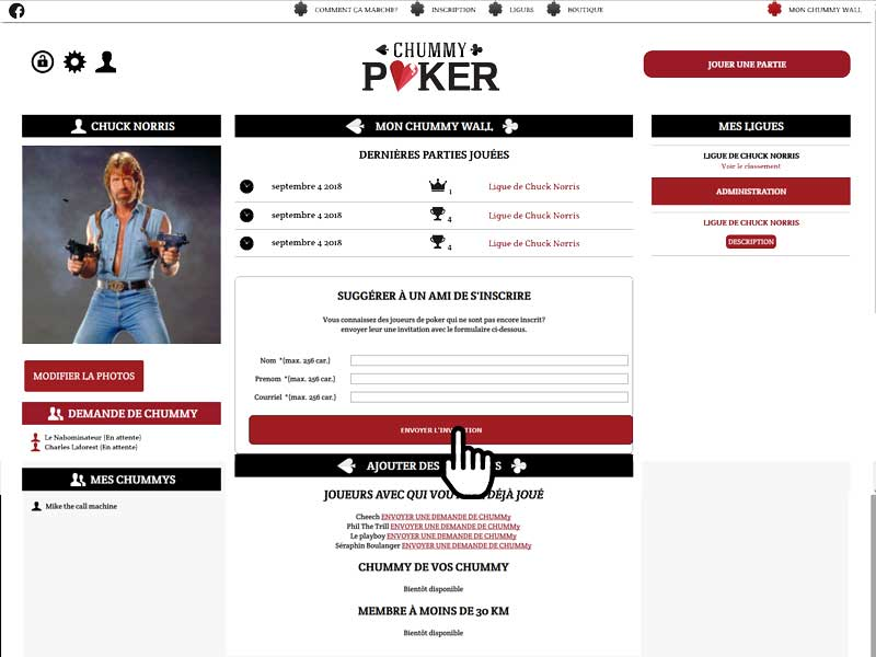 inscription patir de poker